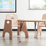 Jonti-Craft Classroom Feeding Chair Wood in Brown, Size 17.5 H x 16.5 W x 18.5 D in | Wayfair 6801JC