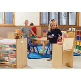 Jonti-Craft® Cubby w/ Bins Wood in Brown, Size 24.0 H x 28.5 W x 15.0 D in | Wayfair 07100JC