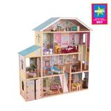 KidKraft Majestic Mansion Dollhouse Manufactured Wood in Brown, Size 53.0 H x 14.0 W x 51.0 D in | Wayfair 65252