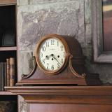 "Howard Miller® Chiming Key Wound Hadley Mantel Clock in Brown, Size Medium (7""-15"" H) 
