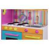 KidKraft Deluxe Big & Bright Kitchen Set Manufactured Wood in Blue/Brown/Orange, Size 43.0 H x 42.25 W x 17.25 D in   Wayfair 53100
