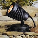 Kichler Low Voltage Hardwired Spot Light in Black, Size 5.0 H x 4.0 W x 5.0 D in   Wayfair 15191BK