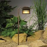 Kichler Zen Garden 1-Light Pathway Light Metal in Brown, Size 24.0 H x 7.0 W x 8.5 D in | Wayfair 15391OZ