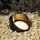 Kichler Low Voltage Hardwired Well Light Metal in Black, Size 8.0 H x 5.5 W x 5.5 D in | Wayfair 15088BK