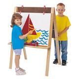Jonti-Craft® Double Sided Board Easel Wood/No Writing Surface in Brown, Size 38.0 H x 32.0 W x 24.0 D in   Wayfair 0218JC