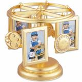 Lawrence Frames Wind Up Musical Carousel Picture Frame Metal in Yellow, Size 7.28 H x 6.89 W x 6.89 D in | Wayfair 250423