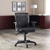 Lorell 86000 Series Managerial Mesh Task Chair Upholstered/Mesh in Black, Size 35.0 H in | Wayfair 86201