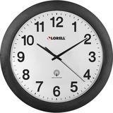 "Lorell Radio Controlled 11"" Wall Clock in Black, Size 12.0 H x 12.0 W in | Wayfair 60997"