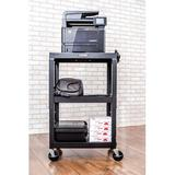 Luxor Utility Cart Metal in Black, Size 42.0 H x 24.0 W x 18.0 D in   Wayfair AVJ42