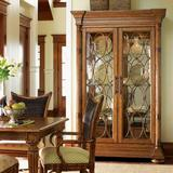 Tommy Bahama Home Island Estate Mariana Lighted Curio Cabinet Wood in Brown/Red, Size 86.0 H x 54.75 W x 22.0 D in | Wayfair 01-0531-864