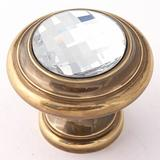 Alno Inc Swarovski Crystal Mushroom Knob Crystal & Glass/Metal, Size 0.75 D in | Wayfair C211-CLR/PA