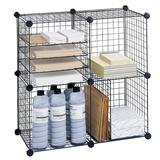 Safco Products Company Wire Cube Bookcase in Black, Size 14.38 H x 14.5 W x 14.0 D in | Wayfair 5279BL