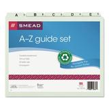 Smead Manufacturing Company Pressboard Alpha Recycled Top Tab File Guides, 1/5 Tab, 25/Set Paper & Cardstock in White | Wayfair SMD50376