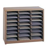 Safco Products Company Value Sorter Organizer w/ 24 Compartments Wood in Brown, Size 25.75 H x 32.25 W x 13.5 D in | Wayfair 7111MO