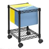 Safco Products Company Compact Mobile Wire File Cart Metal in Black, Size 19.5 H x 15.5 W x 14.0 D in | Wayfair 5277BL