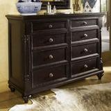 Tommy Bahama Home Kingstown Stony Point 8 Drawer Media Double Dresser Wood in Brown/Red, Size 44.0 H x 60.0 W x 22.0 D in | Wayfair 01-0619-222