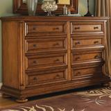 Tommy Bahama Home Island Estate Martinique 8 Drawer Double Dresser Wood in Brown, Size 44.0 H x 69.0 W x 21.0 D in | Wayfair 01-0531-222