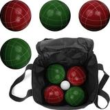 Hey! Play! Bocce Set w/ Carrying CasePlastic in Green/Red, Size 8.5 H x 8.5 W x 8.6 D in   Wayfair 80-751214