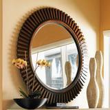 Tommy Bahama Home Ocean Club Reflection Round Dresser Mirror Metal in Brown, Size 45.75 H x 45.75 W x 2.25 D in | Wayfair 01-0536-902