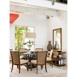 Tommy Bahama Home Ocean Club Dining Table Glass/Metal in Black/Brown, Size 36.0 H x 54.0 W x 54.0 D in   Wayfair