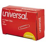 Universal® Paper Clips, 1000/Pack Wire in Gray, Size 2.8 H x 3.8 W x 0.2126 D in | Wayfair UNV72210
