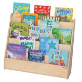 Wood Designs Double Sided 4 Compartment Book Display Wood in Brown, Size 29.0 H x 30.0 W x 15.5 D in | Wayfair 34300