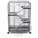 """Ware Manufacturing Weather Resistant Chinchilla Cage w/ Ramp, Metal in Blue/White, Size 36""""H X 26""""W X 17""""D 