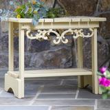 Uwharrie Chair Veranda Wood Side Table Wood in Green/Brown, Size 24.0 H x 29.0 W x 23.0 D in | Wayfair V040-000
