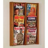 Wooden Mallet Wall Mounted Magazine Rack Wood in Brown/Green, Size 26.25 H x 21.25 W x 3.0 D in | Wayfair AC26-6MO
