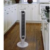"Lasko 36"" Oscillating Tower Fan w/ Remote Control, Chrome in Chrome/White, Size 36""H X 12""W X 12""D | Wayfair 2510"