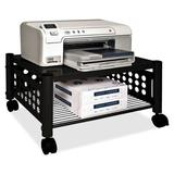 Vertiflex Mobile Printer Stand w/ Casters Metal in Gray, Size 11.5 H x 21.5 W x 17.88 D in | Wayfair VRTVF52005
