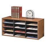 Fellowes Mfg. Co. Fellowes® Desktop Sorter Wood in Brown, Size 12.25 H x 29.0 W x 11.88 D in   Wayfair FEL25400