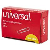 Universal® Nonskid Paper Clips, 100/Box, 10 Boxes/Pack Wire in Gray, Size 5.3 H x 3.9 W x 0.1102 D in | Wayfair UNV72230