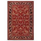 Acura Rugs Artios Oriental Handmade Tufted Wool Red/Area Rug Wool in Black, Size 96.0 H x 60.0 W x 0.5 D in | Wayfair Artios 5'x 8' DK red