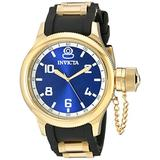 Invicta Men's 1437 Russian Diver Blue Dial Black Polyurethane Watch
