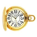 South Dakota Gold Quartz Pocket Watch (Miyota Movement)
