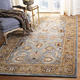 Safavieh Heritage Collection HG958A Handmade Traditional Oriental Premium Wool Area Rug, 4' x 6', Blue / Gold