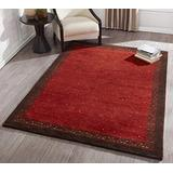 Momeni Rugs Desert Gabbeh Collection, 100% Wool Hand Knotted Contemporary Area Rug, 2' x 3', Paprika