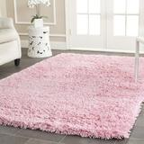 Safavieh Classic Shag Collection SG240P Handmade 1.75-inch Thick Area Rug, 4' x 6', Pink