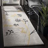 """Safavieh Soho Collection SOH305G Handmade Premium Wool Runner, 2'6"""" x 8' , Grey"""
