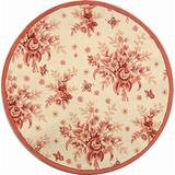 Safavieh Chelsea Collection HK250C Hand-Hooked French Country Wool Area Rug, 3' x 3' Round, Ivory / Rose