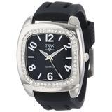 Trax Women's TR1740-BB Malibu Fun Black Rubber Black Dial Crystal Watch