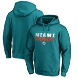 Men's NFL Pro Line by Fanatics Branded Aqua Miami Dolphins Iconic Collection Fade Out Pullover Hoodie