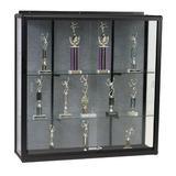 MooreCo Wall Mount Display Case Metal Trophy Display Case Metal in Gray/Black, Size 48.0 H x 48.0 W x 16.0 D in | Wayfair 90W84-12