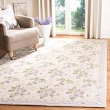 """Safavieh Chelsea Collection HK54A Hand-Hooked French Country Wool Area Rug, 5'3"""" x 8'3"""", Ivory"""