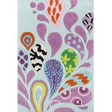 Momeni Rugs Lil' Mo Hipster Collection, Kids Themed Hand Carved & Tufted Area Rug, 2' x 3', Pink & Blue