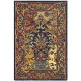 Safavieh Heritage Collection HG911A Handmade Traditional Oriental Premium Wool Accent Rug, 2' x 3', Multi / Burgundy
