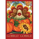 Toland Home Garden Autumn Turkey 28 x 40 Inch Decorative Fall Thanksgiving Holiday Pumpkin House Flag (101223)