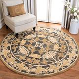 Safavieh Anatolia Collection AN541A Handmade Traditional Oriental Premium Wool Area Rug, 6' x 6' Round, Navy / Sage