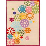 Momeni Rugs Lil' Mo Hipster Collection, Kids Themed Hand Carved & Tufted Area Rug, 3' x 5', Ivory